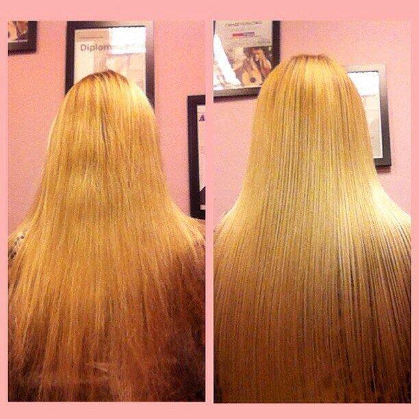 Эффект от ботокса для волос