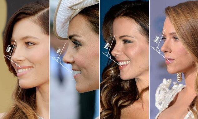 Идеальный женский нос 106 градусов